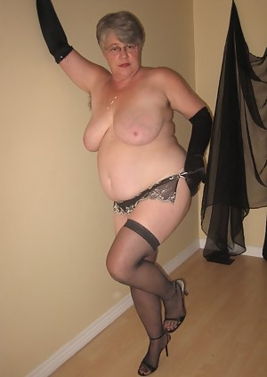 This Girdlegoddess, in her black fishnets, loves to show off for you.Big tits hairy pussy and nice round ass. all just f