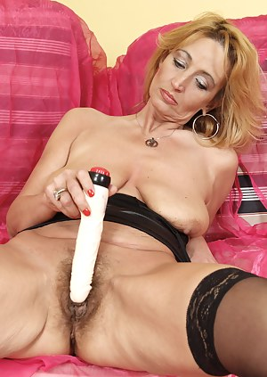 horny milf showing her hairy pussy