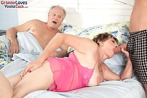 69-year-old Bea Cummins fucks 25-year-old Johnny