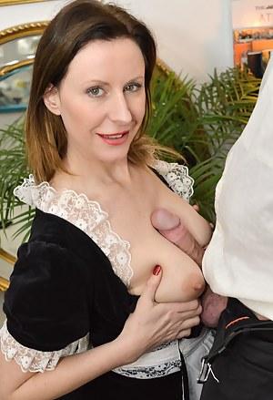 Lara is enjoying pounding hard and sucking on this huge cock