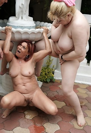 Two kinky mature sluts have fun with a younger babe