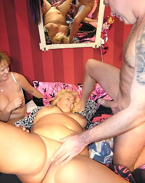 one guy with two mature sluts