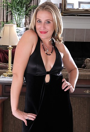Blonde and elegant Chance from AllOver30 shows off some hot stockings