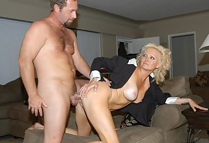 Sensational woman loves having passionate sex with this strong man. She is getting banged and getting her mouth jizzed on.