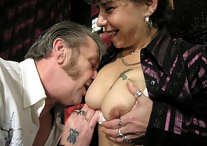 This mature cunt really loves that big hard cock
