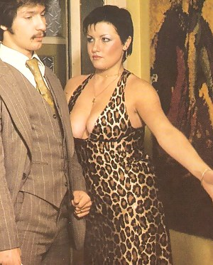 Hairy and busty seventies hooker pleasing a good stiffy cock