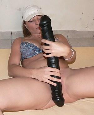 She really enjoys that rubber monster cock