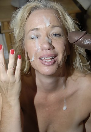 This kinky mature nympho loves to suck black cocks