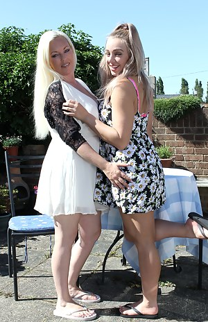 hot and steamy British old and young lesbian couple get wild