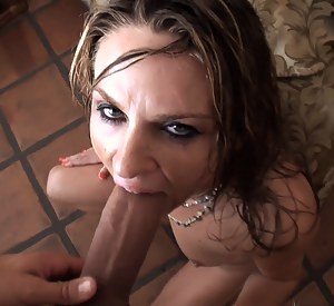 Shameless babe is peeing in the toilet when her lover comes into the bathroom. They are also taking shower together and enjoying wild sex.