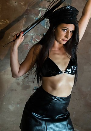 This sexy new model dressed in her finest sexy fetish gear but was too excited to be a strict mistress.