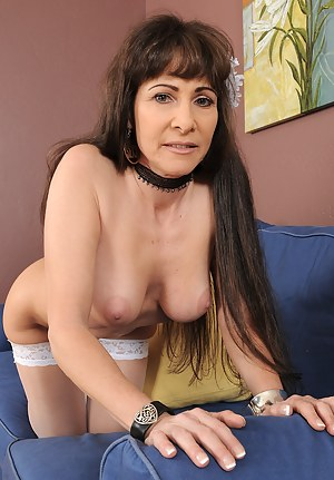 47 year old Alexandra Silk from AllOver30 showing off in bright white