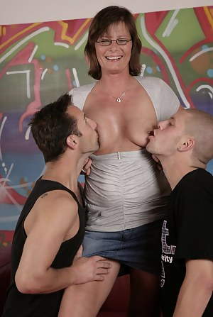 mature slut fucked by two toy boys