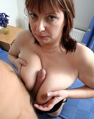Big titted housewife fucking and sucking good