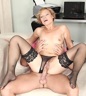 Lustful chick is getting her hairy cunt penetrated wildly in different moves. She is also taking shower alone and shaving her twat.