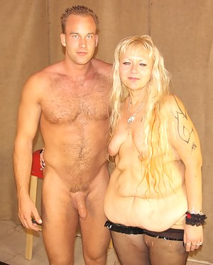 This blonde mature chubby just loves the taste of cock