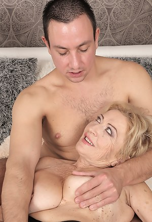 Horny mature Maya Lambert gets her wet meaty pussy pounded by a younger man