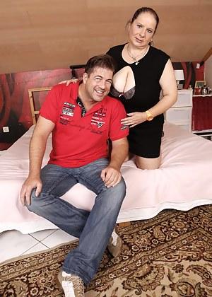 Big breasted German mature BBW getting very naughty