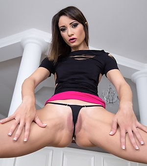 Tattooed brunette like you've never seen before. She has the IT factor which is only amplified by her insane lust for anal sex.