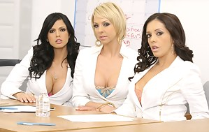CFNM foursome features gorgeous MILFs in doctor and nurse uniforms doing everything they can in order to treat their poor patient.
