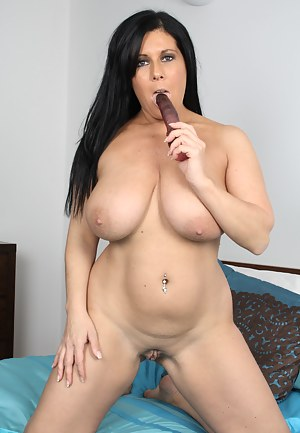 Naughty Nikki Lord loves to show her big breasts