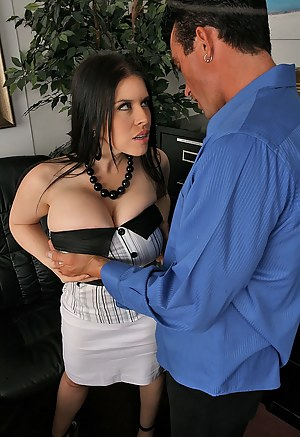 Brunette secretary wants a raise but the only way she can get it is through a hardcore doggy style intercourse with her new boss.