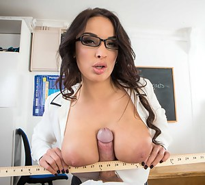 Hardcore sex in different moves is what this busty teacher is looking for. Her young student is letting her play with his thick aggregate.