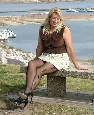 On the outside you get some great voyuer shots with some sexy pantyhose.  On the inside you get sheer panties - lots of