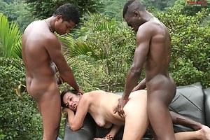 hot interracial mature threesome