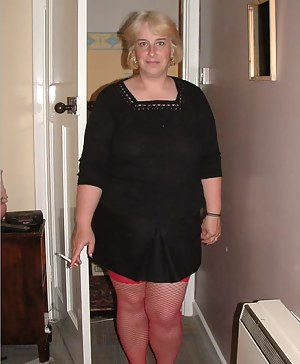 I put on my red fishnet stockings as I know they make Johnny so horny.  After Johnny had licked my bum I had to relieve