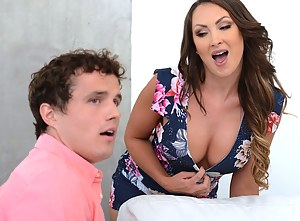 This man is famous for his massive penis, so all the ladies are happy to fuck with him. Now he is enjoying threesome with his girl and her slutty mom.