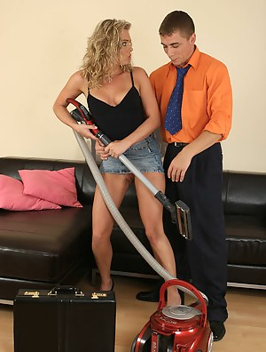 Romana's young boyfriend brings home a toy and fucks her hard and fast