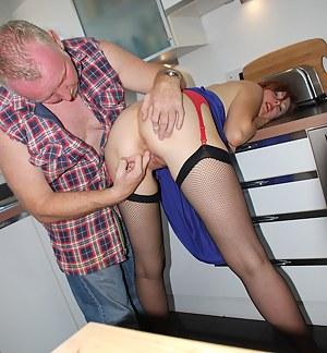 Very hot british chick banging a big horny truck driver