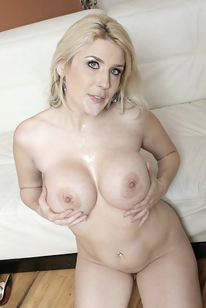 Sexy and classy MILF in a black dress wants to try exercise, but get too aroused by this dude's gun show, so she fucks him on the spot.