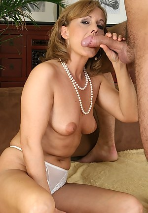 Horny housewife Martina getting her pussy drilled hard.