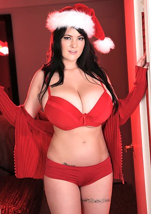 Rachel Aldana is Santa's Busty Helper this year