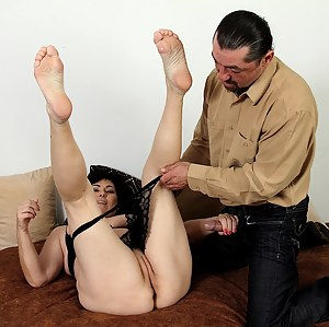 Busty housewife Kata gets her pussy fucked raw.
