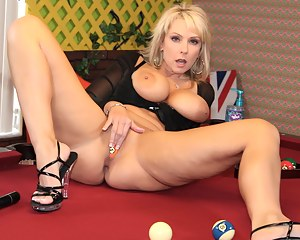 Pussy Play on the Pool Table