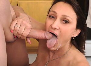 Horny Anilos Jillian Foxxx gets her pink pussy rammed while riding on a cock and shallow the cum