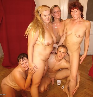 This lucky mofo is the life of this mature sexparty