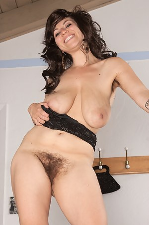 Eve's hot date has finished but she has other things in mind. She stops at the top of the stairs waiting to be fucked hard in her juicy long haired bush.