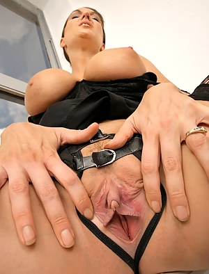 Office close up fuck scene features a marvelous MILF with big tits in her astonishing stockings and splendid high heels having sex.