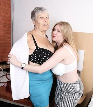 Big breasted British mature ladies go lesbian