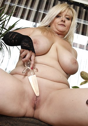 Big breasted housewife getting naked and then some