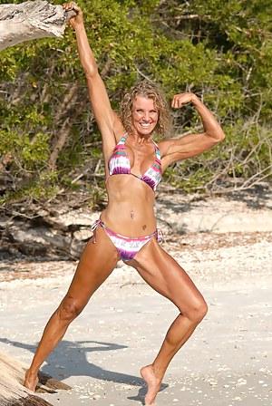 Denise James, Tanned on Sandy Beach