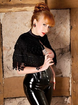 Dressed to kill in skin tight latex and killer heels I was ready with My whip for my next victim..Luckily he kept Me waiting, so I unzipped My access all areas leggings for a good fucking with the glass dildo handle - well, its always good to have multi-p