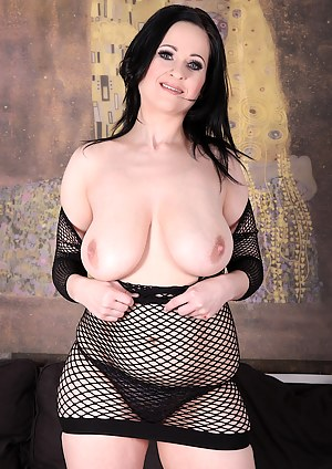 Sexy MILF shows her tits and pussy before taking a BBC in her pussy and mouth