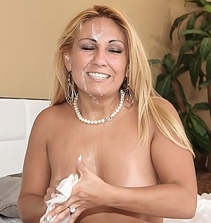 She loves flashing her boobs in the car and fucking with the strangers. This young man is presenting her with unforgettable fuck session.
