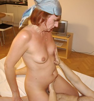 This kinky housewife loves to play with cock