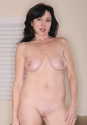 Lovely Anilos Karen Kougar licks the rabbit toy before violating her cougar pussy with it